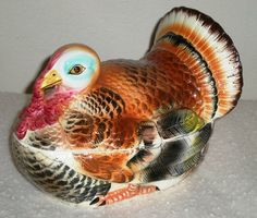 Turkey Covered Serving Dish  Ceramic Tom by MyHeirloomCharms, $38.00