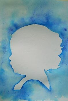 Water color silhouette