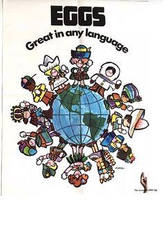 #incredibleegg #saulmandel #advertising #Americanillustrator #childrenaroundtheworld #eggs #vintage #theartofsaulmandel