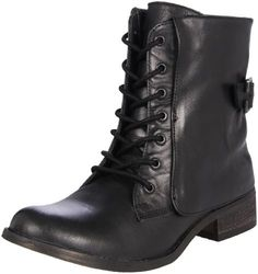 black simple trendy boots