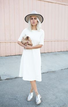 casual white on white style..