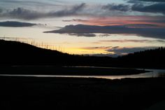 Sunset along the Madison River in Yellowstone National Park, WY