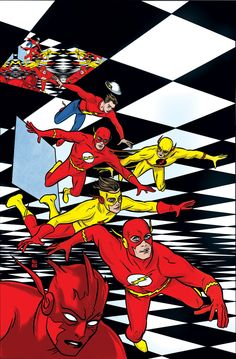 The Flash #31 variant cover by Mike Allred
