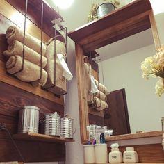 LP-TAEさんの、DIY,セリア,すのこ板,洗面所 収納,バス/トイレ,のお部屋写真