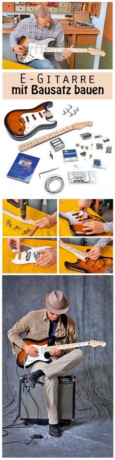 Mit Hilfe eines Bausatzes kann man eine E-Gitarre schnell selbst zusammenbauen.