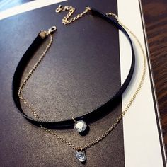 Graceful Layered Rhinestone Choker Necklace For Women #CLICK! #clothing, #shoes, #jewelry, #women, #men, #hats, #watches