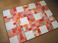 wonky nine-patch quilt