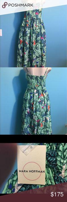 """Mara Hoffman Flirty Bustier Dress A Mara Hoffman cotton blend dress. Fully lined. Hidden side zipper closure. Adjustable shoulder straps. Bustier to hemline approx 43"""" in length. Mara Hoffman Dresses Midi"""