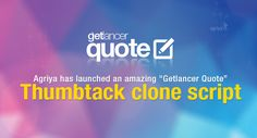 Launch an online #servicemarketplace website using Getlancer Quote - Thumbtack clone script  Check out: http://www.clonescripts.co/2015/11/launch-online-service-marketplace-website-using-Getlancer-Quote.html