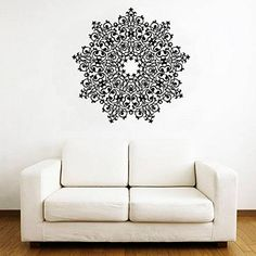 Mandala wall decal Geometric wall decal Moroccan wall  sc 1 st  Pinterest & Dahlia Wall Sticker Decal by MyWallStickers on Etsy $36.99 | Decor ...