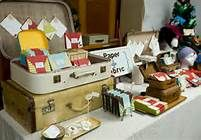 Suit cases Craft Booth Display Ideas.