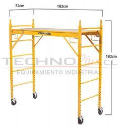 ANDAMIO MÓVIL DE ACERO 1.80M Metal Working Tools, Metal Tools, Work Tools, Balcony Railing Design, Staircase Design, Portable Ladder, Metal Storage Racks, Workbench Designs, Aluminium Ladder