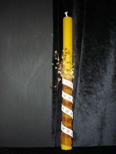 Διακοσμημένη λαμπάδα. Ιδανική για ενήλικες για την ημέρα της Ανάστασης. Άριστη ποιότητα από κερί μέλισσας. http://waxcreations.gr