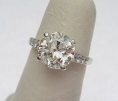 2.17 ct European Cut Diamond Vintage engagement ring-klinesjewelry
