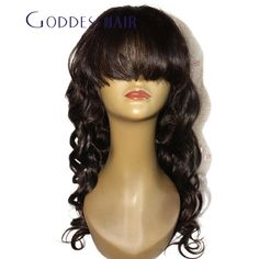 2015 cheap! Brazilian virgin hair Glueless body wave Full lace wigs with bangs100% human hair lace front wig for black women