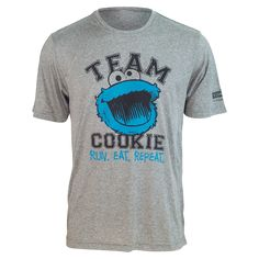 "TEAM COOKIE MONSTER ""Run. Eat. Repeat."" Running Shirt (unisex)"