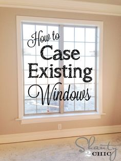 Easy Way to Case an Existing Window! Great tutorial for casing existing windows! Looks so easy and inexpensive!Great tutorial for casing existing windows! Looks so easy and inexpensive! Home Improvement Projects, Home Projects, Weekend Projects, Backyard Projects, Home Renovation, Home Remodeling, Kitchen Remodeling, Basement Renovations, Window Casing