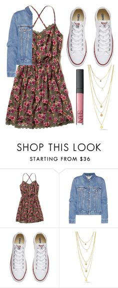 """""""Floral Dress"""" by beautyfashion2006 ❤ liked on Polyvore featuring Hollister Co., Acne Studios and Converse"""