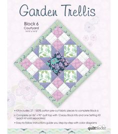 Garden Trellis Quilt Pattern rail fence solid blocks with a