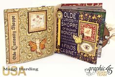Sq Mini, Olde Curiosity Shoppe, Maggi Harding, Graphic 45 #graphic45 #oldecuriosityshoppe #album