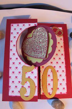 scrapbooking carte d'anniversaire de mariage