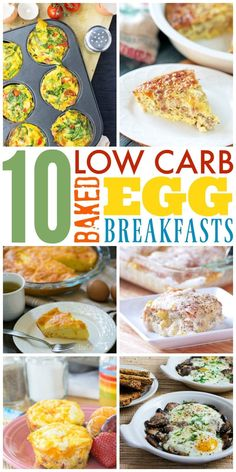 10 Low Carb Baked Eggs Breakfast Ideas - A low carb diet can be challenging sometimes trying to come up with new and creative ways to enjoy eggs. These 10 dishes are all delicious and perfect for low carb, Paleo, ketogenic and gluten-free diets.
