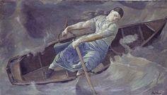 Ferdinand Hodler (1853-1918) Swiss Art Nouveau Painter; The Courageous Woman