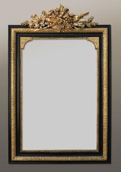 Grand miroir ancien glace la feuille or xixe h 180 cm miroirs anciens pinterest for Immense miroir