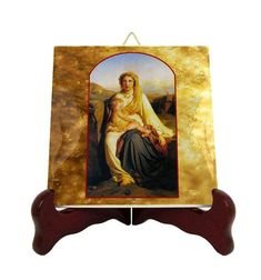 Religious Icons, Religious Gifts, Catholic Gifts, Religious Art, Catholic Art, Catholic Prayers, Paul Delaroche, Tile Murals, Blessed Virgin Mary