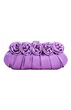Pretty Clutch  Style Code: 07756  US$22.00  Color: Purple  Material: Satin