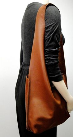 Shoulder Handbag Handmade In Leather Caramel by JPRESTONHANDBAGS