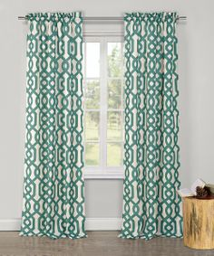 Emerald Ashmont Textured Panel Curtains