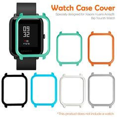 "Universe of goods - Buy ""Watch Frame Amazfit Bip Youth Smart Watch Protector Case Slim Colorful Frame PC Case Cover Protect Shell For Xiaomi Huami "" for only USD. Colorful Frames, Watch Photo, Watch Case, Buy Watch, Smart Bracelet, Pc Cases, Apple Watch Series, Fashion Watches, Smart Watch"