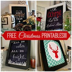 Free Christmas Printables Up the Wazoo! Plus some fun Christmas home inspiration.
