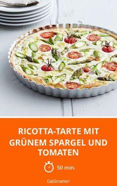 Ricotta-Tarte mit grünem Spargel und Tomaten - smarter - Zeit: 50 Min. | eatsmarter.de
