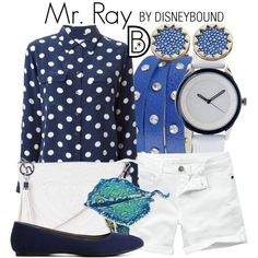 Mr. Ray by leslieakay on Polyvore featuring Equipment, Fat Face, Charlotte Russe, Jane Norman, Lacoste, George J. Love, Rachel Rachel Roy, House of Harlow 1960, disney and disneybound