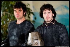 The flight of the conchords!   Jemaine Clement and Bret McKenzie