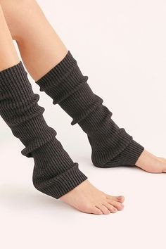 Capezio Legwarmers at Free People, Grey, One Size Cowgirl Boots, Western Boots, Riding Boots, Hunter Boots Outfit, Hunter Rain Boots, Slouch Socks, Boot Socks, Timberland Style, Timberland Fashion
