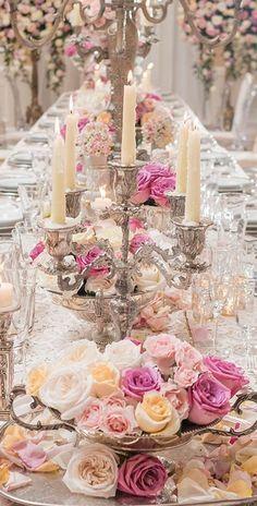 Best Pink and White Wedding Decorations Ideas White Wedding Decorations, Reception Decorations, Wedding Centerpieces, Wedding Table, Victorian Party, Victorian Wedding Themes, Wedding Trends, Wedding Designs, Wedding Ideas