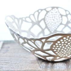 porcelain cut out bowl. Isabelle Abramson.