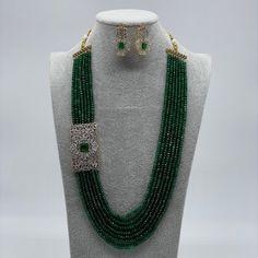 Pakistani Jewelry, Bollywood Jewelry, Indian Wedding Jewelry, Indian Jewelry, Emerald Necklace, Beaded Necklace, Gold Nose Rings, Indian Nose Ring, Indian Earrings