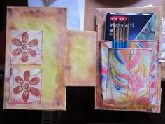 And you can see why I had tiered back pockets.  A tin of Inktense pencils and a few brushes is also part of the present.
