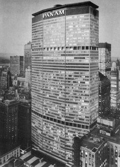 Modern Architecture New York City 1963 - pan am building - nyc new york | international mid-century