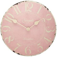 Buy Newgate Tin Clock, Ballet Pink Online at johnlewis.com