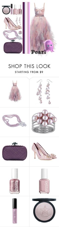 """Pearl (Finding Nemo)"" by quript on Polyvore featuring Marchesa, NOVICA, Bottega Veneta, Dolce&Gabbana, Essie, Bobbi Brown Cosmetics, disney, pearl, disneybound and pixar"