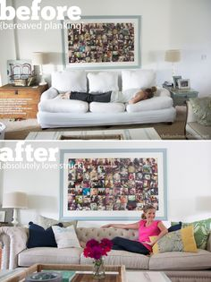 andella home {awesome eye candy + a home furnishings love story} Chesterfield Sofas, Tufted Sofa, Granville Homes, Flea Market Style, Handmade Home, Home Furnishings, Love Story, This Is Us, Home Goods