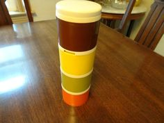 Items similar to Tupperware Spice Containers, Vintage Tupperware, Tupperware Stacking Containers, Harvest Gold Tupperware, Mid Century Modern Kitchen on Etsy Spice Containers, Mid Century Modern Kitchen, Vintage Tupperware, Harvest, Mid-century Modern, I Shop, Goodies, Spices, Cleaning
