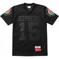 Drake Wears Supreme Hooded Satin Varsity Jacket and Roses Football Jersey | UpscaleHype