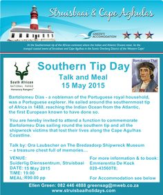 #SouthernTipDay #SanParksEvents #ShipwreckMuseum #StruisbaaiEvents