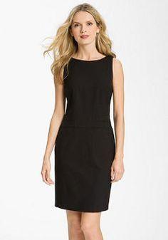 Mysterious Natural Waist Sheath/ Column Short Length Chiffon Little Black Dress - 1300258009B - US$80.29 - BellasDress
